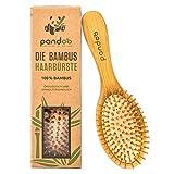 pandoo Bambus Haarbürste mit Naturborsten - Vegan,...